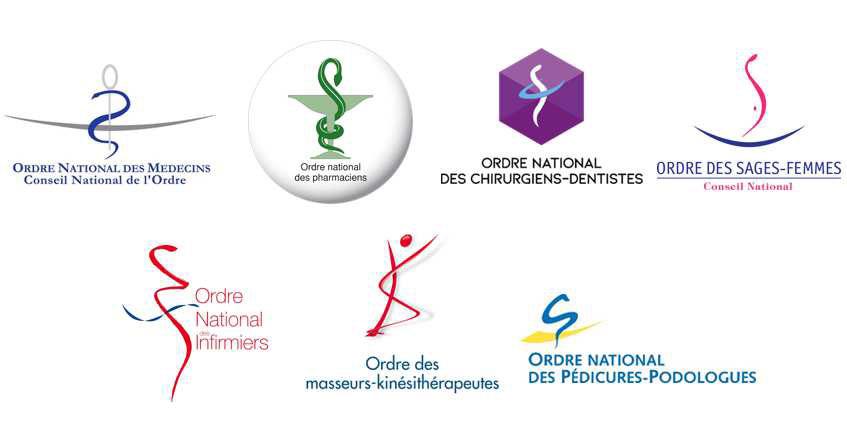 Logos des ordres de santé